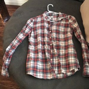J. Crew Perfect Plaid Buttoned Down Size 4